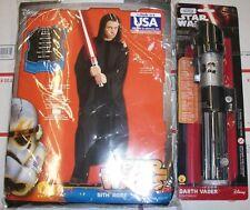 Halloween Star Wars Adult Hooded Sith Robe, Medium & Lightsaber Costume