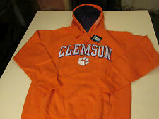 CLEMSON TIGERS PULLOVER HOODED SWEATSHIRT MENS SIZE LARGE - ORANGE - NWT