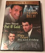 Til the Clouds Roll By, Pot O' Gold, and His Girl Friday - new dvd - 3 movies