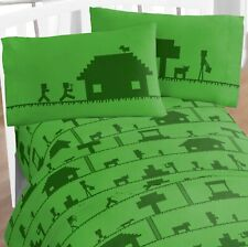 MINECRAFT Green TWIN SHEET 3 Pc SET ~ New in Package