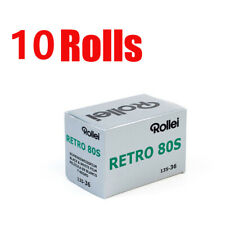 10 Rolls Rollei Retro80s 35mm 135-36exp Black&White Film Fresh 2022