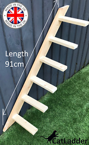 Wall Or Fence Mounted Cat Ladder Steps With Fixings / Cat climbing ladder tower