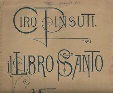 Spartito Musicale Il Libro Santo Melodia di Violino Violoncello di Ciro Pinsuti