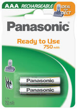 4 x Panasonic Akku AAA 750 mAh 1,2V P03P Ni-MH Micro für DECT Siemens Telefon