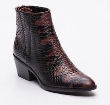 Calvin Klein Stiefel Stiefeletten Damen Gr.40 Leder Schlangenoptik Python NEU