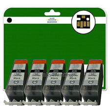 5 Black C525 Ink Cartridges for Canon Pixma MG8150 MG8170 MG8220 MG8250 non-OEM