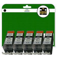 5 NERO C525 cartucce d'inchiostro per Canon Pixma MG8150 MG8170 mg8220 MG8250 NON-OEM
