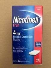 Nicotinell Nicotine Gum Fruit 4mg 96 Pieces - Quit / Stop Smoking - Exp 09/21