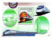 TRAINS of the USA  = ROYAL GORGO LOCOMOTIVES & RAILROAD STATIONS S/S MNH **