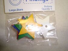 Favorite Findings Large Star Buttons -Scrapbooking/Craft/Doll Clothes