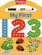 My First 123 (My First Write-On Wipe-Off Board Book) New