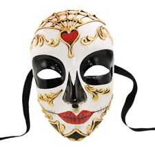 VENETIAN Masquerade Mask Volto Morte Red handcrafted Made in Venice Italy