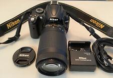Nikon D5000 12.3MP Digital SLR Camera with AF-P Nikkor 70-300mm 1:4.5-6.3G Lens