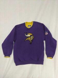 Minnesota Vikings NFL Starter Mens Sweatshirt Purple Long Sleeve Vintage Large