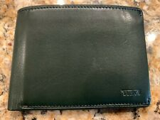Tumi - leather id lock with pocket protection