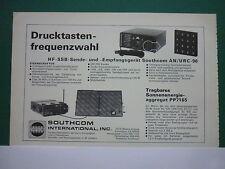 7/78 PUB SOUTHCOM ESCONDIDO RADIO HF SSB AN / URC-96 PP 7165 ORIGINAL GERMAN AD