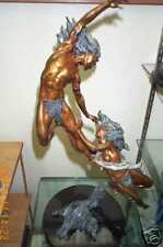 Peter C. Sedlow Morningstar/Eveningstar Bronze Sculpture Man & Woman S/O RARE