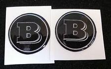2 Adesivi Resinati Sticker 3D BRABUS Smart  65 mm