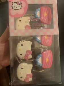 New Sanrio Hello Kitty Shower Curtain Hooks Set of 12 Kitty and Purse Design