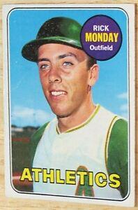 1969 TOPPS BASEBALL SET, #105 Rick Monday, Oakland Athletics, VGEX