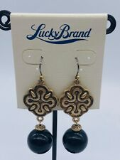 Lucky brand jewelry vintage golden earrings
