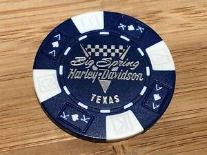 Harley Davidson Poker Chip Big Spring Texas