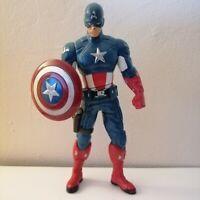 "Captain America Marvel Avengers Shield-Spinning 6"" Action Figure Hasbro 2011"