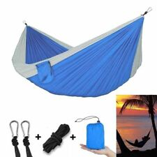Double Hammock Air Chair Camping Backpacking Survival Travel Nylon Parachute Bed