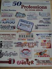 50 PROFESSIONS IN CROSS STITCH BY SAM HAWKINS 1993 AMERICAN SCHOOL OF NEEDLEWORK