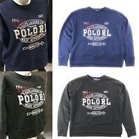 Polo Ralph Lauren Women's Graphic-Print Fleece Sweatshirt Navy Black