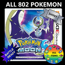 Pokemon Moon Unlocked All 802 Shiny Battle Ready Nintendo 3DS
