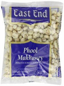 East End Phool Makhana, Roasted Lotus Seeds/Ferox Seeds 100g (Free Delivery)