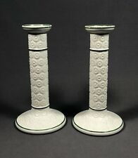 Pair Of 19th Century Staffordshire Pottery Ridgway Candle Sticks
