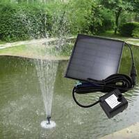 Solar Water Pump Power Panel Kit Fountain Pool Garden Pond Submersible Black UP#