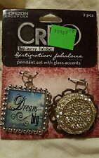 CRE8 by amy labbe pendant set with glass accents