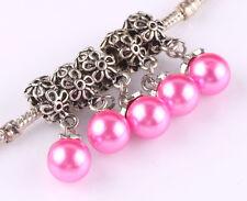 5pcs Tibetan silver pearl pendant spacer beads fit Charm European Bracelet A516