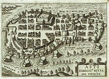 ASTI - 1629 F. BERTELLI - Rara - Pianta Antica Originale - PIEMONTE - ITALIA