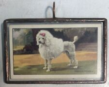 French Poodle Poodle Dogs Gallaher Ltd Stained Glass Window Ornament