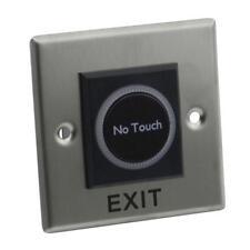 Poussoir de Porte Portail Infrarouge Tactile pour Contrôle d'Accès avec LED