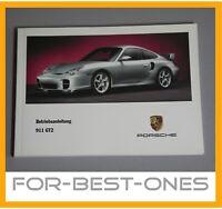 NEU Porsche 911 996 GT2 Betriebsanleitung Bedienungsanleitung Wartung Handbuch