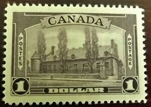 CANADA KG VI 1937-38 1$ VIOLET MINT HINGED P.12 S.G.367 VERY GOOD CONDITION