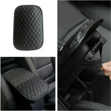 Black PU Leather Car Center Console Armrest Cushion Mat Pad Cover Waterproof New