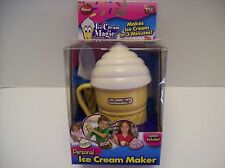 "As Seen On TV ""Ice Cream Magic"" 3 Minute Personal Ice Cream Maker- White- NEW"