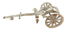 Vintage Antique White Cast Iron Carriage Base 8 Inches Long