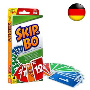Skip-Bo-Skipbo Kartenspiel Familienspiel Patience Skippo-4-6 Personen Spiele