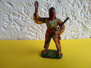 """Elastolin Germany Masse """"Winnetou"""" Cowboy Indianer sehr schöne Farben"""