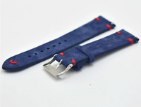 Suede Leather Watch Strap Band For Tissot Citizen Timex Oris Casio Seiko Swatch