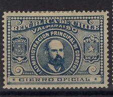 CHILE 1895 Arturo Prat oficial seal MH blue