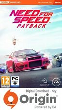 NEED FOR SPEED PAYBACK PC ORIGIN KEY