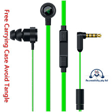 Earphones Razer Mic Remote Hammerhead Pro V2 In Ear Gaming Headphones Green Case